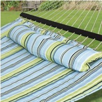 Shaded Blue & Green Quilted Hammock