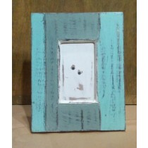 Shaded Blue Square Wooden Photo Frame 4'' x 6""