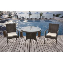Shaded Brown Wicker PE Rattan Dinning Set