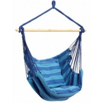 Shaded Of Blue Hanging Rope Chair