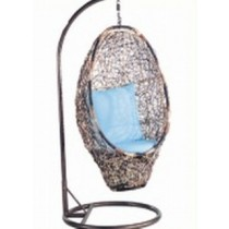 Shaded Owl Shape Garden Rattan Hanging Swing