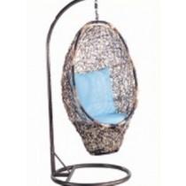 Shaded Owl Shape Garden Rattan Hanging Swing