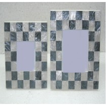 Shiny checks design photo frame 3 x 3""