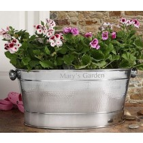 Silver Color Oval Metal Flower Planter