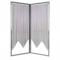 Silver Finish 2-Panel Stainless Steel Screen