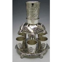 Silver Plated 6 Cups Goblet Set Fountain
