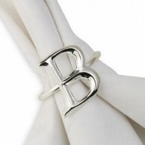 Silver Plated Alphabet B Letter Napkin Ring