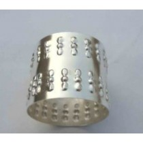 Silver plated Embossed Design Iron Napkin Ring