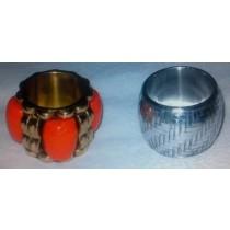 Silver Resin Stone Napkin Ring