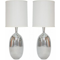 Silver Shiny Polish Aluminum Table Lamp