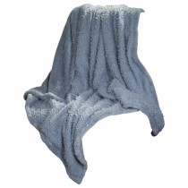 Silver Solid Soft Plush Sherpa Fleece Throw