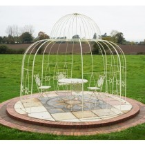 Simple Design Cream Finish Durable Metal Gazebo