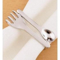 Simple Design Fork, Spoon Cutlery Napkin Ring