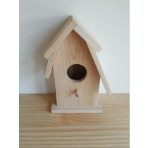Simple Designed Fir Wood Bird House