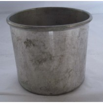 Simple Round Shape Galvanized Metal Planter