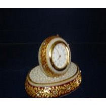 Single Round Marble Clock