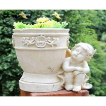 Sitting Angel Garden Decorative Flower Pot