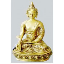 Sitting Buddha Statue, 15 Inches