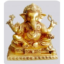 Sitting Ganesha Statue, 8 Inches