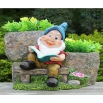 Sitting Garden Gnome Decorative Flower Pot