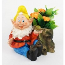 Sitting Gnome Planter