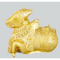 Sitting Nandi Statue, 8 Inches