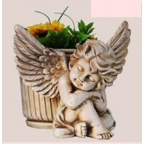 Sleeping Beauty Angel Garden Planter