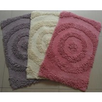 Small-Chenille Circular Design Bathmats