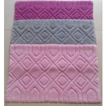 Small-Diamond Design Bathmats