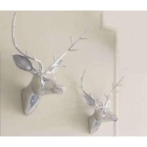 Small Deer Head Wall Decoration 30Cm