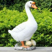 Small Duck With Egg Garden Sculpture