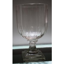 Small Ribbed Cut Glass Large Candle Holder(15 X 40 cm) c=