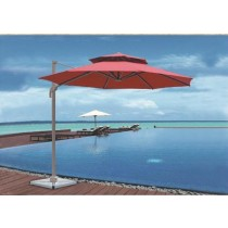Small Rome Aluminum Double Top Red Umbrella