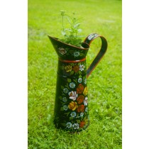 Small Size Jug Shaped Green Metal Planter