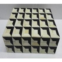 Small Square Wooden Jewellery Box