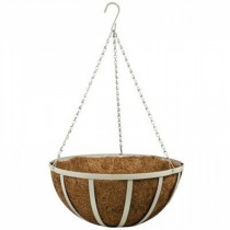 Small Steel Hanging Basket with Sandstone Chain