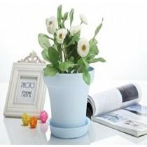 Small Wood Grain Plastic Pot