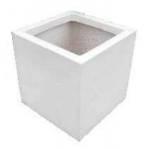 Cube Shaped 10 Inch Fiberglass Planter