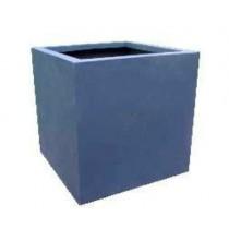 Cube Shaped 20 Inch Height Fiberglass Planter