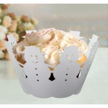 Snowmen Cup Cake Wrapper
