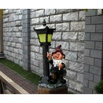 Solar Light Stand Garden Gnome Sculpture