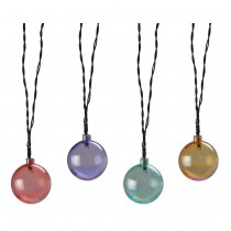 Solar Pearlescent LED Globe String Light