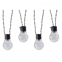 Solar Powered Clear Globe Garden String Light