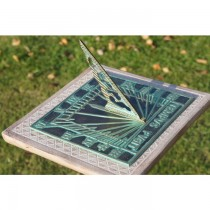 Solid Brass Polished Square Shape Garden Sundial