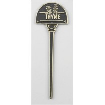Solid Brass Thyme Herb Garden Tag