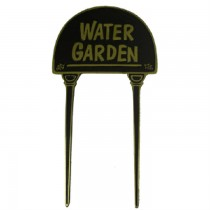 Solid Brass Water Garden Cast Black Garden Tag