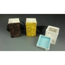 Square 3 Colored Ceramic Electric Wax Warmer Oil Burner(Set Of 3)
