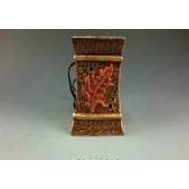 Square Brown Leaf Carving Ceramic Electric Wax Warmer Oil Burner
