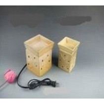 Square Cream Ceramic Electric Wax Warmer Oil Burner(Set Of 2)