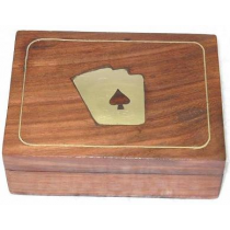 "Square  Natural Dice Box, 4.5"" X 3.5"" X 1.5"""
